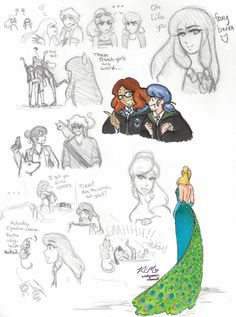 Miraculous Ladybug sketches 2 by Peacock Miraculous, Miraculous Ladybug Fan Art, Ladybug Art, Ladybug Comics, Anime Sweet, Sweet Boys, Marinette Ladybug, Cat Sketch, Modern Witch