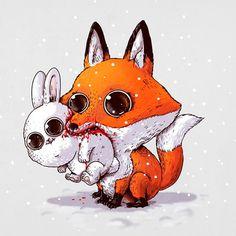 10 Illustrations Dadorables Animaux Assoiffes De Sang Par Alex Solis