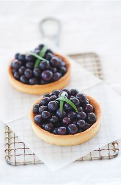 Fresh Blueberry tarts
