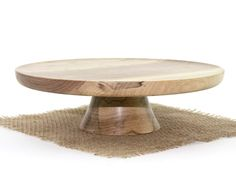 Wooden Elm Cake Stand   by Wood Expressions