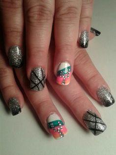 New basket ball tattoos san antonio ideas Sns Nails, Cute Nails, Shellac, Manicures, Basketball Nails, Nail Art For Girls, Pinky Swear, Nail Time, Pretty Hands