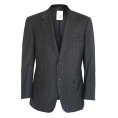 CANALI $1295 dark blue pinstripe 160s wool sport coat blazer jacket 44/54 7C NEW #Canali #TwoButton