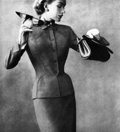 Probably my favorite silhouette in fashion.  Just classic. #vintagefashion #fashion