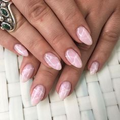 Rhe newest trend od 2017, RoseQuartz nails! I want these....5 Best Crystal Quartz Nail Art Designs to Try | StyleCaster