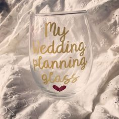 Excited to share this item from my shop: Wedding planning glass, engagement gift, engagement g Engagement Gift Baskets, Engagement Gifts For Bride, Engagement Presents, Engagement Ideas, Wedding Engagement, Wedding Planning Tips, Budget Wedding, Best Friend Gifts, Gifts For Friends