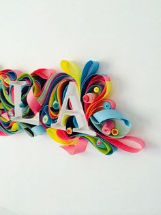 Paper Typography - HLA logo by sabeena karnik, via Behance