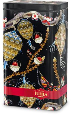 Juhla Mokka Design Tin 2008 by Klaus Haapaniemi Finland How To Make Coffee, Making Coffee, Nordic Christmas, Mocca, Tin Boxes, Nordic Design, Wall Wallpaper, Hand Crochet, Marimekko