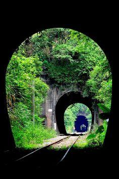 Triple Railroad Tunnel, China