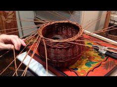 Плетение из лозы дома.Загибка в 4 прута. - YouTube