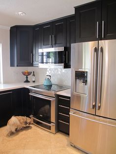 Love, Sweat and Tears: Kitchen Remodel: Herringbone Subway Tile and Stainless Steel Appliances