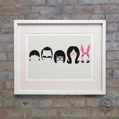 Bobs Burgers Bob Linda Tina Gene and Louise Belcher by Posteritty