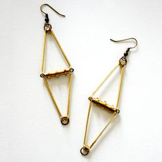 Geometric Hinge Earrings now featured on Fab.