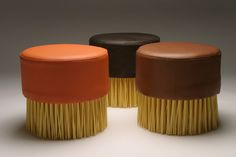 Imagine Brush Table and Lazy Cleaner Stools  by Jason Taylor