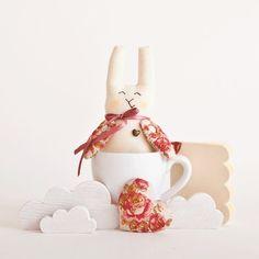 Lapin décoratif de pâques en tissu #easter
