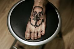 Skull w/ anchor