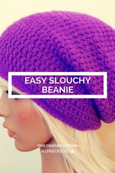 Time to crochet a slouchy beanie!                                                                                                                                                                                 More
