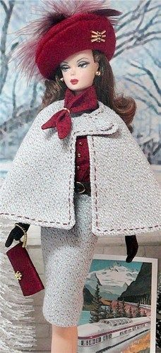 Around the World Barbie from Donna's Doll Designs. Love the hat and purse
