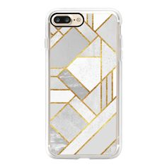 Gold City / Geometric Marble - iPhone 7 Case, iPhone 7 Plus Case,... (55 AUD) ❤ liked on Polyvore featuring accessories, tech accessories, iphone case, gold iphone case, iphone cover case, iphone cases, slim iphone case and apple iphone case
