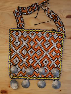The artisan bead work of the Shipibo tribe of the Upper Amazon in Peru. For details about their art read the article