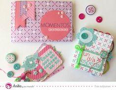 manualidades con papel fáciles: álbumes scrapbook de fotos