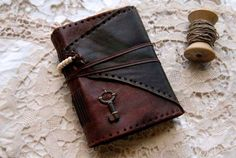 The Wordsmith  Rustic Handbound Leather Journal by bibliographica, $125.00