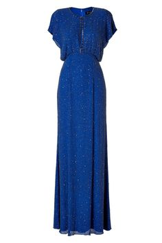 Silk Sequined Gown in Montera by JENNY PACKHAM
