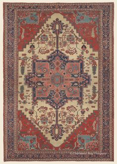 "SERAPI, 12' 7"" x 18' 5"" — Circa 1900, Northwest Persian Antique Rug - Claremont Rug Company  Click to learn more about this rug."