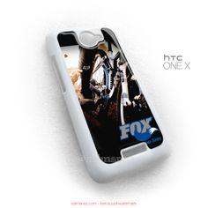 Fox Racing Shox Bike Bikers Bicycle HTC One X Case White Cover