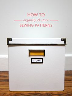 How to store and organize sewing patterns || originally posted on WorkroomSocial.com, textile crafts instruction & inspiration
