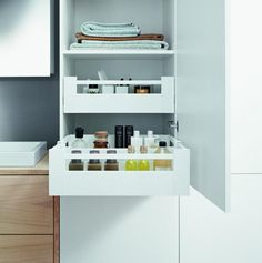 The latest ways to maximise bathroom storage - The Interiors Addict Closet Storage, Bathroom Storage, Storage Shelves, Kitchen Storage, Bathroom Medicine Cabinet, Smart Storage, Shelving, Extra Storage Space, Storage Spaces