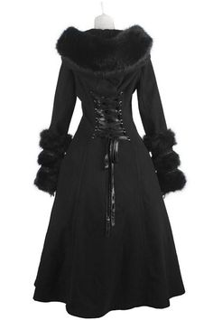 Frozen Night Corseted Reversible Gothic Coat by Pyon Pyon