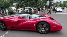 Ferrari P4/5 driving away