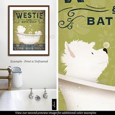 Westie West highland Terrier dog bath soap Company by geministudio