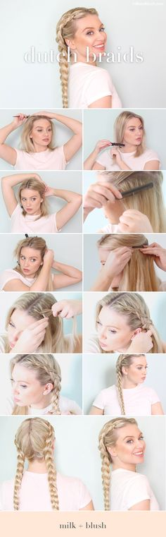 How To: Double Dutch Braids with Hair Extensions | Milk + Blush Hair Extensions