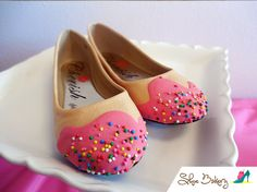 Cupcake Sprinkle Flats Pink (figure out DIY)