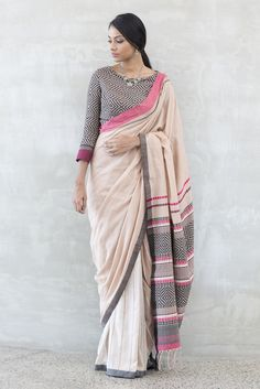 #saree #blouse #combination #cotton