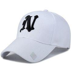Baseball Hats Solid color N letter Embroidered Cap for Men 8fe640596c
