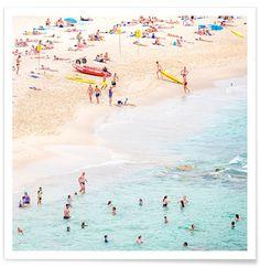 Beach as Premium Poster by Charlotte Curd   JUNIQE UK