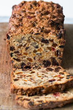 Fabulous holiday fruitcake recipe with dates, raisins, walnuts, glazed cherries, and orange zest. Christmas fruitcake recipe. ~ SimplyRecipes.com