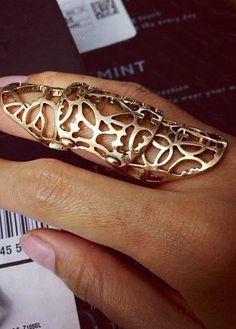 Articulated Armour Ring bold pretty statement finger jewellery