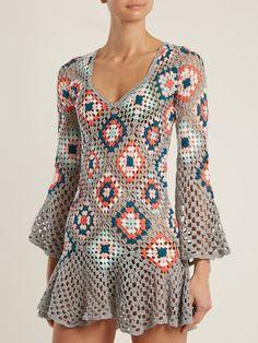 Fabulous Crochet a Little Black Crochet Dress Ideas. Georgeous Crochet a Little Black Crochet Dress Ideas. Black Crochet Dress, Crochet Tunic, Crochet Clothes, Crochet Lace, Crochet Dresses, Crochet Wedding, Crochet Summer, Free Crochet, Lace Wedding