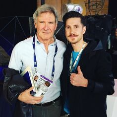 An awesome Virtual Reality pic! Oh this... IT'S JUST MY HUSBAND AND HARRISON FORD!!!  He went through the Indiana Jones themed @voidvr experience yesterday and loved it! Congrats to The Void team once again! So damn proud of you guys!  #voidvr #tedtalks #virtualreality #harrisonford #hansolo #starwars #indianajones by christelmermaid check us out: http://bit.ly/1KyLetq