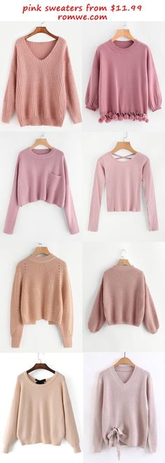 pink sweaters 2017 - romwe.com