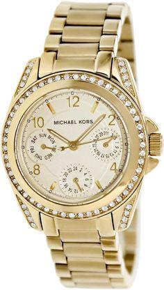 c62ab0e0cee3 Michael Kors Women s Blair Gold-Tone Watch