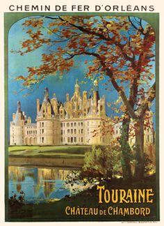 Touraine - Chateau de Chambord -  Chemin de Fer d'Orleans