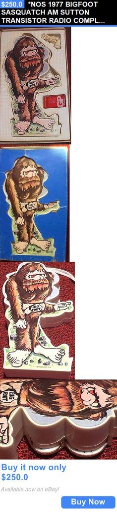 Vintage Radios: *Nos 1977 Bigfoot Sasquatch Am Sutton Transistor Radio Complete In Original Box BUY IT NOW ONLY: $250.0