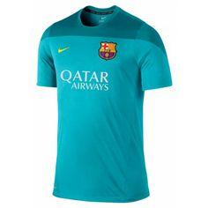 In 2014 gaat de selectie van  FC Barcelona trainen in dit nieuwe Barcelona   trainingsshirt van  Nike.  dws 935677aee0fe4