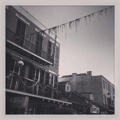 The French Quarter. New Orleans, Louisiana #neworleans #frenchquarter #mardigras #blackandwhite