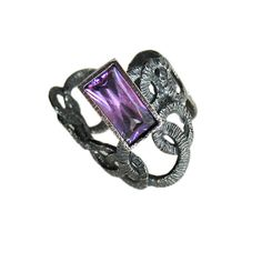 silver lace ring, amethyst,gift for woman,vintage ring, hollywood style,elagant ring,stunning ring, female look, pure silver- Rita on Etsy, $60.00