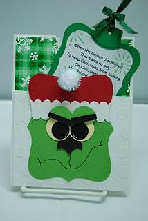 Grinch....green candy cane holder